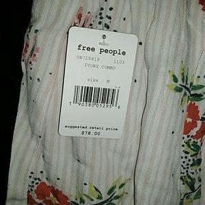 Free People Shorts - Free People Night Watcher Ivory Combo Skort
